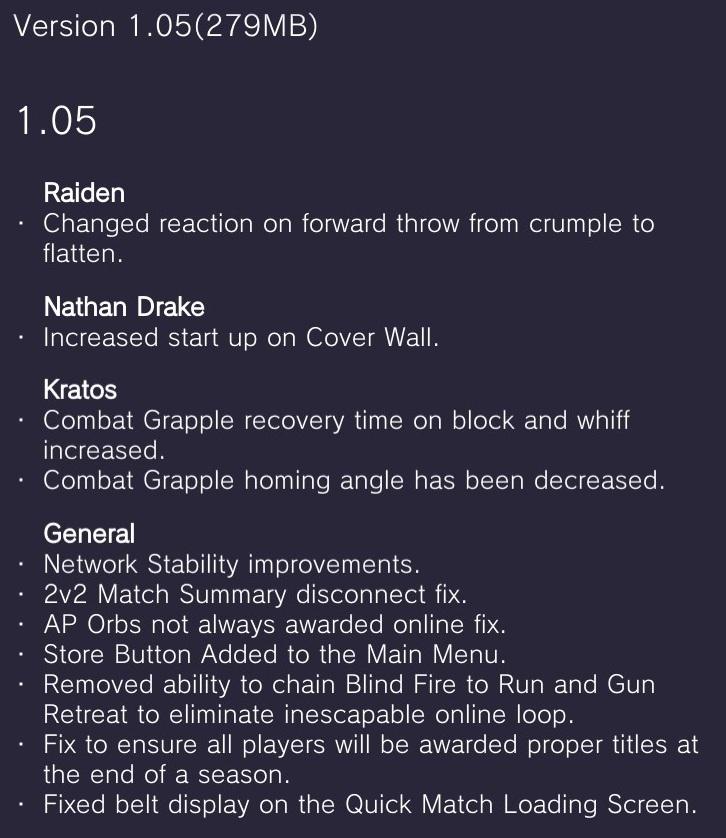 Smash 4 patch notes